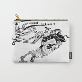 Steampunk Kokopelli Original Pen and Ink Design Carry-All Pouch