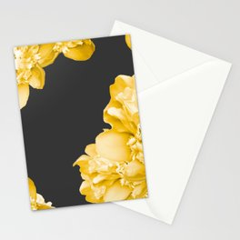 Yellow Flowers On A Dark Background #decor #society #homedecor Stationery Cards