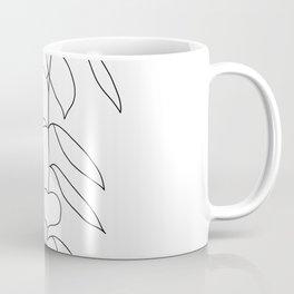 Plant one line drawing illustration - Ellie Coffee Mug