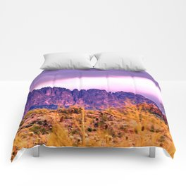 Iron Mountains in Deep Color Comforters