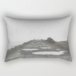 Foggy Beach Rectangular Pillow