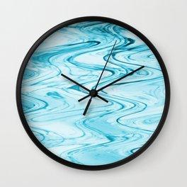 Aqua Waves Wall Clock