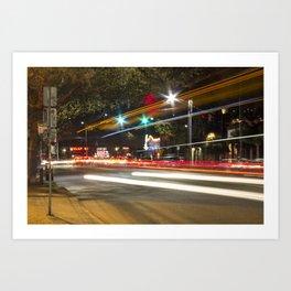 Light Trails in Fremont Art Print