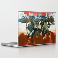 mythology Laptop & iPad Skins featuring Inuit Mythology: Chapter 1, part 6 by Estúdio Marte