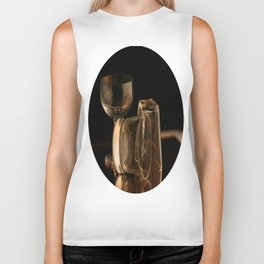 Glasses in Gold Tones Biker Tank