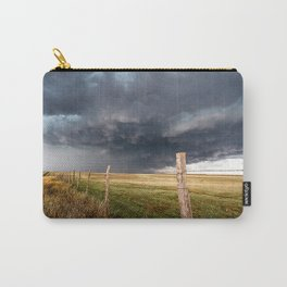 Soft - Storm Along Fence Line in Texas Panhandle Carry-All Pouch