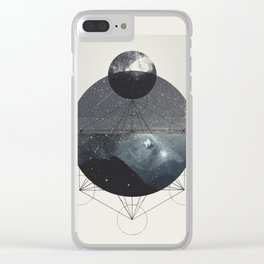 Geometric Spacescape Clear iPhone Case