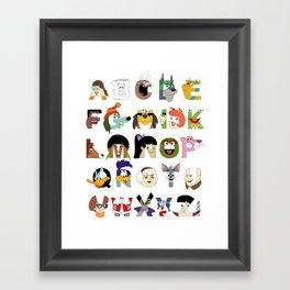 Child of the 70s Alphabet Framed Art Print