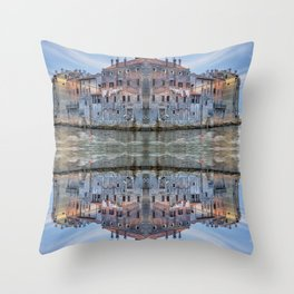 Magic house. Reflection Throw Pillow