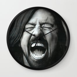 'Grohl In Black III' Wall Clock