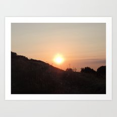 Sunset in Doesburg Art Print