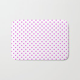 Dots (Fuchsia/White) Bath Mat