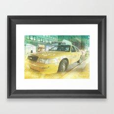 New York Taxi at midnight Framed Art Print
