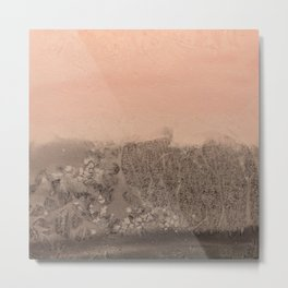 Blush Orange Watercolour Landscape Metal Print
