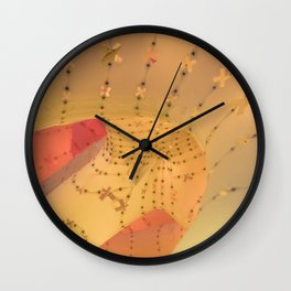 Yellow light Wall Clock