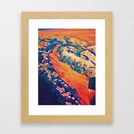 Alpine Overflight Framed Art Print