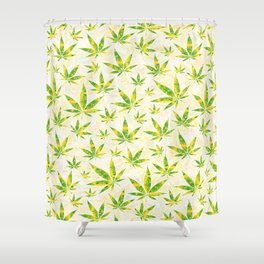 Weed OG Kush Pattern Shower Curtain