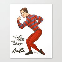ARTIE! The Strongest Man in the World! Canvas Print
