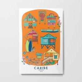 CARIBE VICTORIAN HOUSES PRINT Metal Print