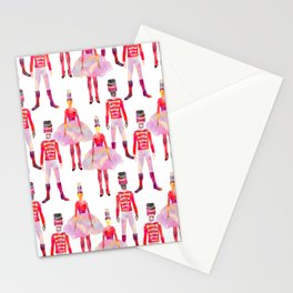 Nutcracker Ballet - White Stationery Cards