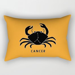 CANCER Horoscope Crab Design - Yellow Orange Rectangular Pillow