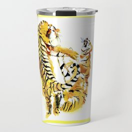 Tiger Fight Travel Mug