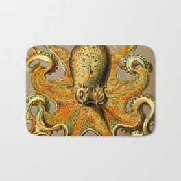 Vintage Golden Octopus Bath Mat