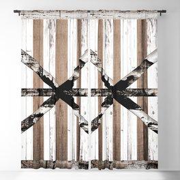 Rustic Multi Wood Barn Door Blackout Curtain