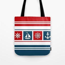 Nautical symbols Tote Bag