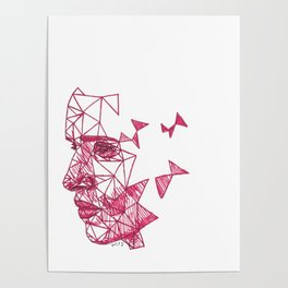 Eddie Redmayne Fracture Drawing Poster