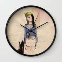 whatever Wall Clocks featuring Whatever by siutaam