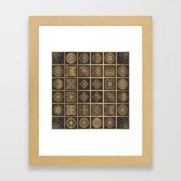 Copper Mandala Quilt Framed Art Print