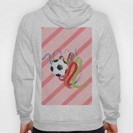 Soccer Ball with Brush Strokes Hoody