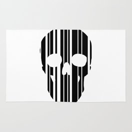Barcode Skull Rug