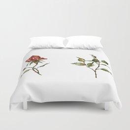 Loose Watercolor Rosebuds Duvet Cover