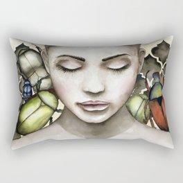 Green beetle Rectangular Pillow