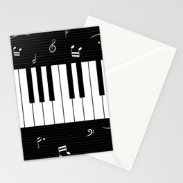 Piano Background - 06 Stationery Cards