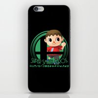 smash bros iPhone & iPod Skins featuring Villager - Super Smash Bros. by Donkey Inferno