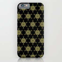 Gold Star Medallion on Black iPhone Case