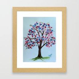 Tree of colours Framed Art Print