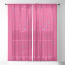 simple geometric pixel pattern 2 mb Sheer Curtain