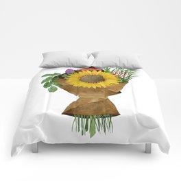 Market Flowers Comforters