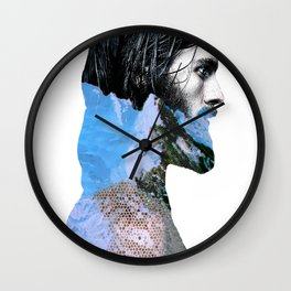 Iceman_blue Wall Clock