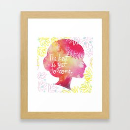 Yet to Come. Framed Art Print