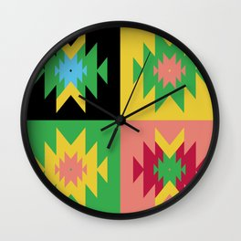 Folk Multi Wall Clock