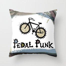 petal punk paint Throw Pillow