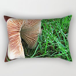 Mushroom and Dewdrops Rectangular Pillow