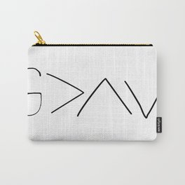 God is greater v2 Carry-All Pouch