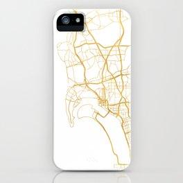 SAN DIEGO CALIFORNIA CITY STREET MAP ART iPhone Case