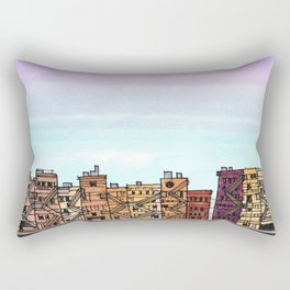 New York Purple Sky Rectangular Pillow